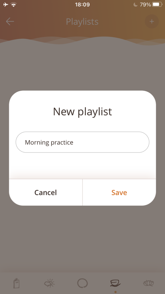 When you add a new playlist, you will choose a name.
